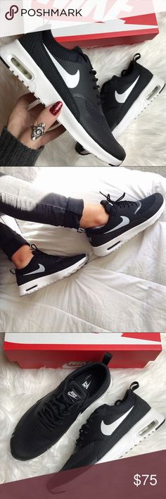 competitive price 61f2b 29754 (8) wmns Nike air max Thea black   white Brand new in box Women s size 8  Black and White Nike air max Thea Retails for  95.00 Nike Shoes Athletic  Shoes