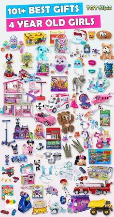 Browse our Gift Guide featuring Best Toys For 4 Year Olds. Discover educational toys, unique kids gifts, kids games, kids books, and more for your 4 year old girl. Make her Birthday or Christmas extra magical with these delightful picks she'll love! Gifts For 3 Year Old Girls, 4 Year Old Girl, Unique Gifts For Kids, Best Gifts For Girls, Cool Toys For Girls, Kids Gifts, Girls Toys, Unique Toys, 4 Year Old Christmas Gifts