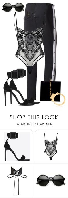 """""""Untitled #1720"""" by styledbyjovonxo ❤ liked on Polyvore featuring Yves Saint Laurent, ZeroUV and Charlotte Olympia"""