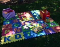Play area for babies at a bday party at the park