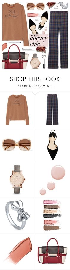 """Study Session: Library Chic"" by anyasdesigns on Polyvore featuring Lingua Franca, Gabriela Hearst, Chloé, Paul Andrew, FOSSIL, Topshop, BERRICLE, Hourglass Cosmetics and Fiorelli"