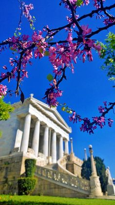 The National Library in the spring, Athens, Greece