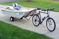 Bike boat trailer in use :: Bike boat trailer in use.