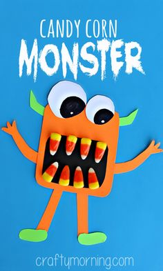 candy corn monster craft