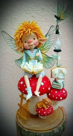 Polymer Clay Fairy, Polymer Clay Dolls, Clay Fairies, Elves And Fairies, Kobold, Marionette, Fairy Figurines, Baby Fairy, Clay Baby