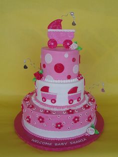 It's a Girl Baby Shower Cake by CakesUniqueByAmy.com, via Flickr