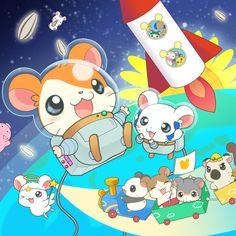 Hamtaro, Anime Kawaii, Kawaii Art, Cute Animal Drawings, Cute Drawings, Anime Animals, Cute Animals, Bullet Journal Themes, Japanese Cartoon