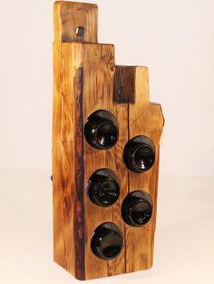 Live edge wood wine rack  Maine barn beam  by FeenAndNeen on Etsy, $174.00