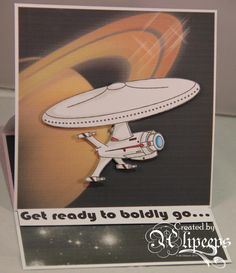 Ali used the Spaceship Digital Stamp and Paper pack to make this gorgeous back to school card, mind you it could be used for anybody setting out on an adventure