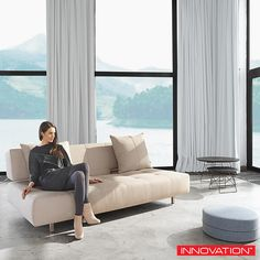 Innovation Living Long Horn full size #sofabed is upholstered in polyester fabric and features Icomfort Excess 10-inch mattress and includes two cushions. http://www.loftmodern.com/products/innovation-living-long-horn-deluxe-excess-sofa