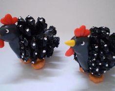 par de galinhas de pinha