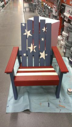 4th of July chair