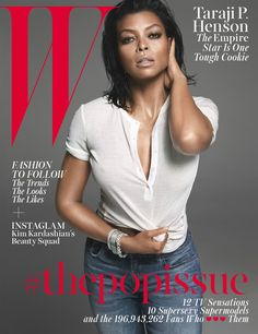 Taraji P. Henson on the cover of W's August 2015 issue.