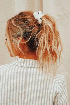 Messy Hairstyles, Pretty Hairstyles, Scarf Hairstyles, Hairdos, Wedding Hairstyles, Blonde Ponytail, Messy Blonde Hair, Long Hair With Bangs, Loose Hair