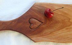 wood heart cutting board