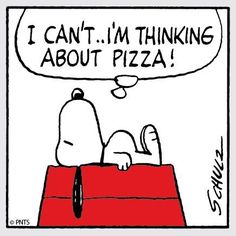 Snoopy and Pizza. by Charles Schulz Peanuts Gang, Peanuts Cartoon, Charlie Brown And Snoopy, Snoopy Cartoon, Snoopy Love, Snoopy And Woodstock, Happy Snoopy, Pizza Meme, Pizza Pizza