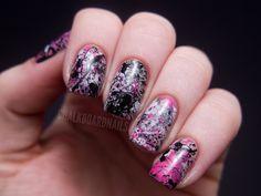 Splatter Nails from Chalkboardnails!
