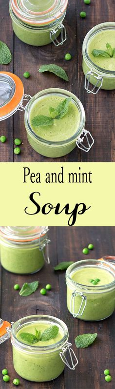This spring pea and mint soup is fresh, creamy, low in calories and healthy!