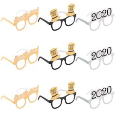 Amosfun Happy New Year Eyeglasses Fancy New Year Party Glasses Celebration Party Favor for 2020 New Year's Eve Party Decors, Pack of 9 Happy New Year Signs, Happy Year, Christmas Glasses, Christmas Fun, New Year's Eve 2020, New Years Eve Decorations, Fancy, Photo Booth Props, New Years Eve Party