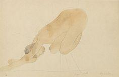 Drawing (Sun Series) Auguste Rodin, b.1870-1917  Camera Work XXXIV/XXXV, 1911  18.5 x 28.9 cm  Coloured Callotype