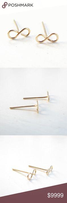 COMING!! Infinity Gold Dainty Stud Earrings Infinity Symbol Gold Dainty Stud Earrings golden threads Jewelry Earrings