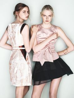Sister Act – We have an exclusive first look at twin sisters and fashion models Elza and Vera Luijendijk starring in Australian label Cue's spring 2013 campaign. The Dutch-born beauties strike elegant poses in the brand's graphic prints and feminine silhouettes. Eastern inspired shapes such as origami pleating and razor sharp cuts bring some edge …