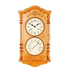 Wall Clock with Thermometer and a Secret Storage Cabinet Key Storage, Secret Storage, Safe Storage, Storage Spaces, Hidden Safe, Secret Hiding Places, Clock Movements, Wood Glass, Keep Jewelry