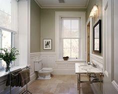 Benjamin Moore Camouflage. Traditional Bathroom design by Philadelphia General Contractor Hanson General Contracting, Inc.