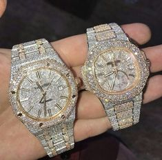 The Holy Trinity Of Bust Down Icy Beasts Ap Rolex Patek Which Is Your Favorite Comment Below