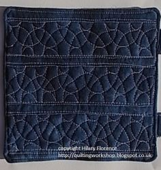 Hilary Florence Quilting Workshop: Arch intersection - free motion quilting Cameo 30