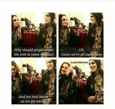 """""""And we look better as we get wetter"""" I have no words for this lol xD"""