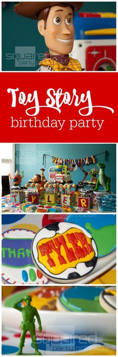 Toy Story birthday party by Squared Party Printables featured by The Party Teacher