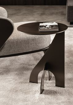 Metal coffee table for living room HARING by Minotti | #design Rodolfo Dordoni