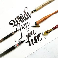 This is my journey to becoming better at hand drawn typography. I will be posting a mixture of my own work and work I find inspiring. Calligraphy Tools, Calligraphy Handwriting, Calligraphy Alphabet, Typography Letters, Typography Logo, Caligraphy, Chinese Typography, Logos, Pen Art