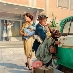 Norman Rockwell's influence on illustrators/advertising in the 40s and 50s. So much information packed into one painting.