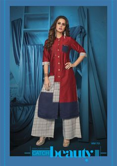 """#SummerIsAlmostHere Fall in love with super cool kurti & palazzo sets from S4U by Shivali. The all-new """"Womaniya 7"""" is all about vivid colours & breezy styles. #Kurti&PalazzoStyle #Womaniya7 #S4UbyShivali Approx MRP: 1600 to 1700 Rs Per Piece."""