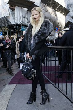 Natasha Poly #streetstyle #fashion #modeloffduty