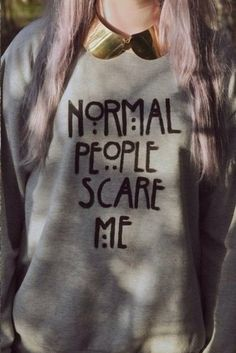 sweater american horror story normal people scare me grey sweater grey hipster pastel goth afraid swag evan peters tate langton gray hoodie