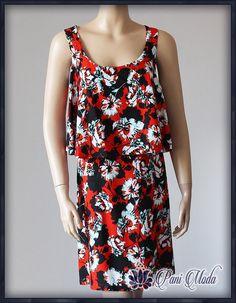 3c0f6866b0 PAPAYA WEEKEND Letnia KOLOROWA Sukienka POP 46 48 - 7341140625 - oficjalne  archiwum allegro