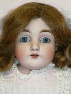 "22"" Dep s 154 Kestner w Original Wig Compo Arms Kid Leather Body w Rivets 