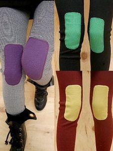 AsiaJam.com Fashion Boutique   Funky Bright Knee Patch Leggings