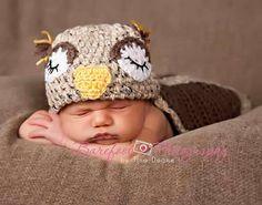sleeping Owl by KnitTillDeath on Etsy, $30.00