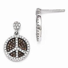 Sterling Silver Cubic Zirconia Post Earrings