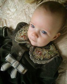 Купить Платье ПЛТ 1034 - оливковый, однотонный, платье для девочки, Платье нарядное, бархатное платье