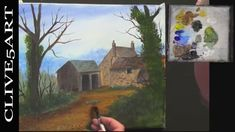 How to Paint an EASY Farmhouse Landscape with Acrylic Paint, clive5art