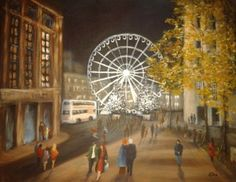 Piccadilly Gardens in November by Eira Williams