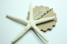 Sparkling Creme Starfish Hair Pin by Catilla  Copper by catilla, $7.00