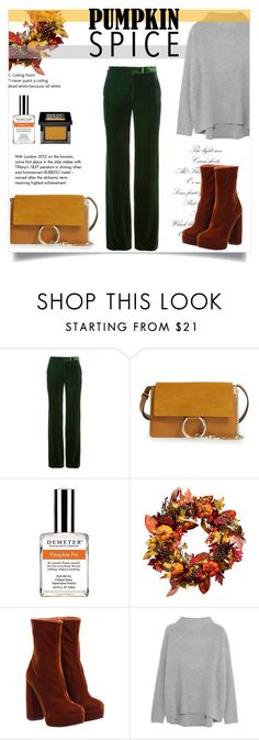 """""""Fall"""" by tauriel25 ❤ liked on Polyvore featuring Emilio Pucci, Chloé, Tiffany & Co., Demeter Fragrance Library, Improvements, Miu Miu, Vince, Make, pumpkin and Fall2016"""