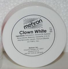 Mehron Clown White Theatrical Circus Face Paint Facepaint Makeup Mime Cosmetic. $9.99 with free standard U.S. shipping. | eBay