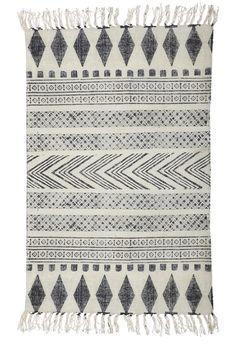 Block Print Rug, Black/grey & white - Rugs & Mats - Home Accessories  | Ross & Brown online designer home store